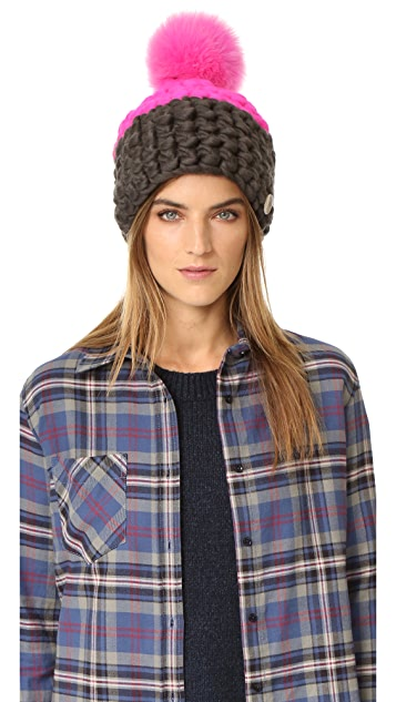 Mischa Lampert Deep Two Tone Beanie Hat