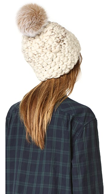 Mischa Lampert Deep Two Tone Beanie Hat