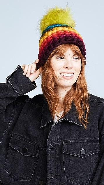 Mischa Lampert Stripe Rainbow Beanie Hat