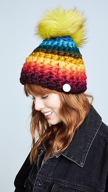 Mischa Lampert Stripe Rainbow Beanie Hat ... e32eecaf7ca