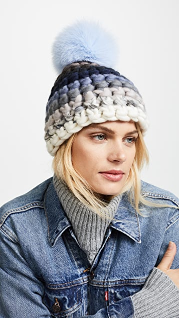 Mischa Lampert Striped Beanie Hat  912a69dabe56