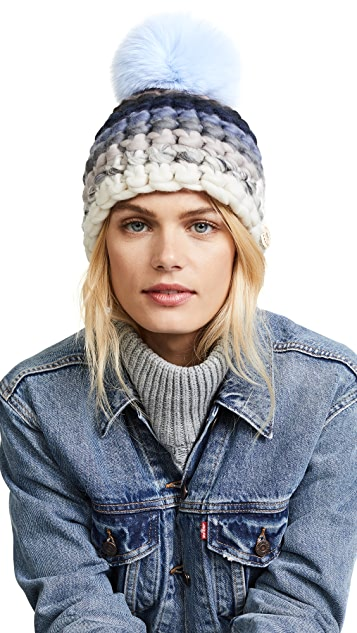 Mischa Lampert Striped Beanie Hat