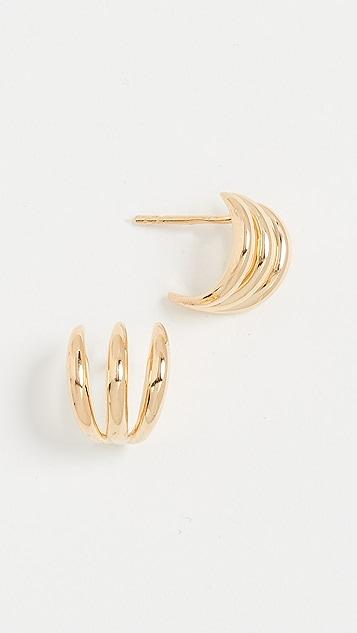 Missoma Gold Claw Studs