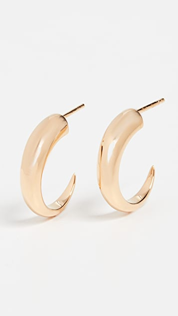 Missoma Gold Medium Plain Claw Hoops