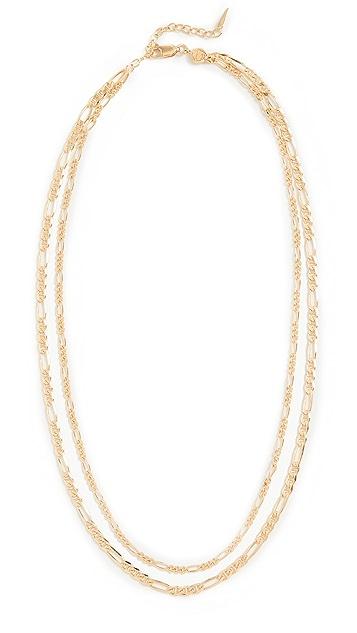 Missoma Gold Filia Double Chain Necklace