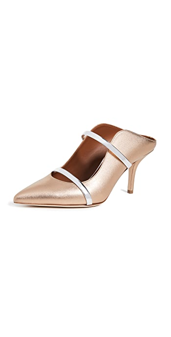 Malone Souliers Maureen Mule Pumps - Gold/Silver