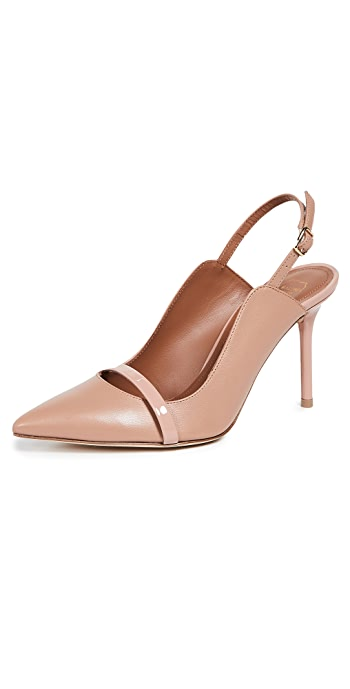 Malone Souliers Marion 85mm Slingback Pumps - Nude/Nude