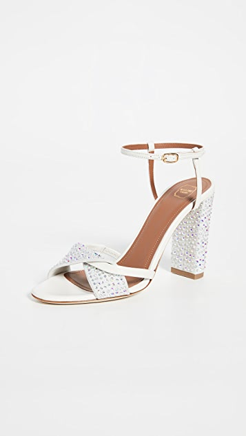 Malone Souliers Tara Ms Crystal 100mm Sandals