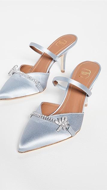 Malone Souliers 70mm Lila 浅口高跟鞋