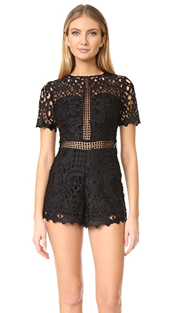 Ministry of Style Lush Lace Romper