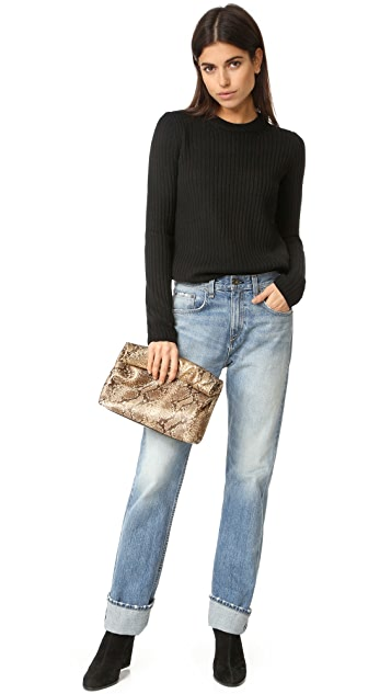 Marie Turnor Accessories Embossed Lunch Clutch