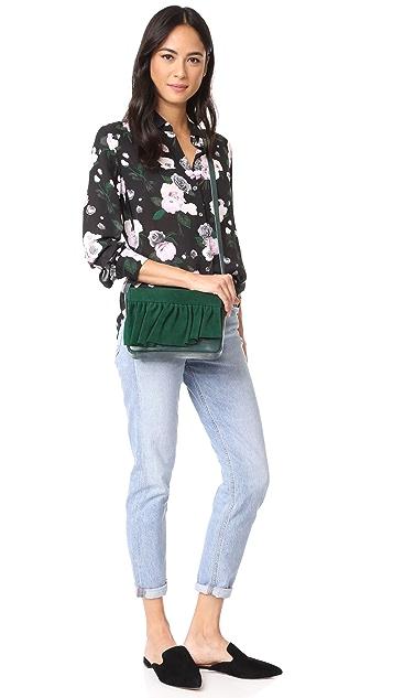 Marie Turnor Accessories Small Ruffle Cross Body Bag