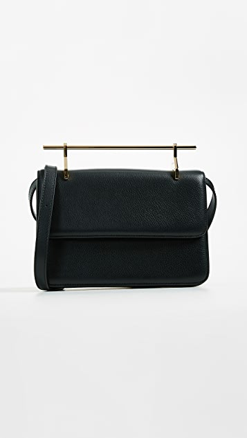 M2MALLETIER La Fleur Du Mal Cross Body Bag in Leather - Black