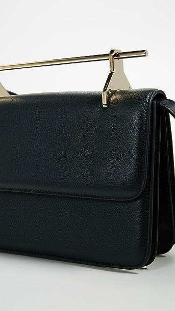 M2MALLETIER La Fleur Du Mal Cross Body Bag in Leather