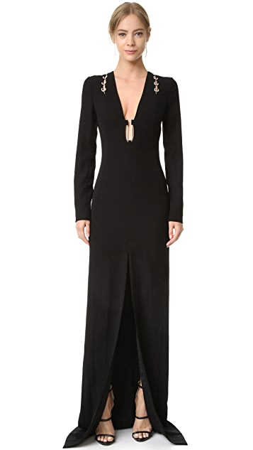 Mugler Long Sleeve Gown