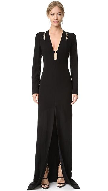 Mugler Long Sleeve Gown