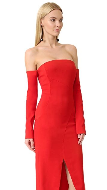 Mugler Off the Shoulder Gown