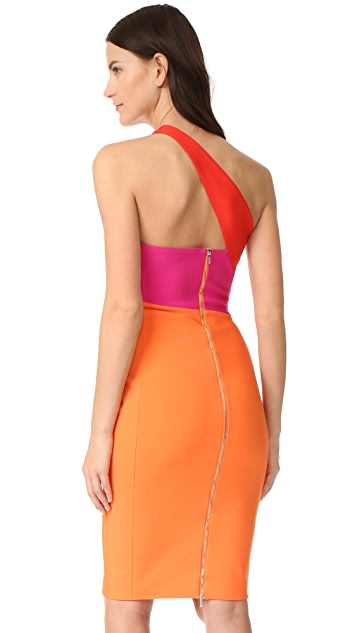 Mugler One Shoulder Dress