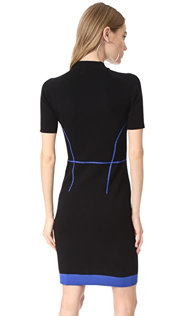 Mugler Scuba Knit Dress