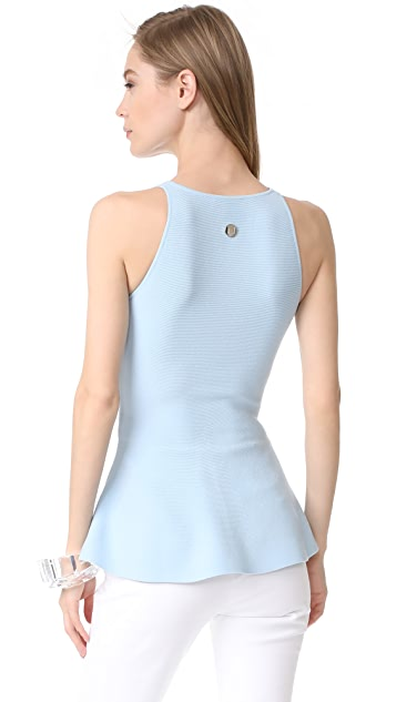 Mugler Peplum Knit Top