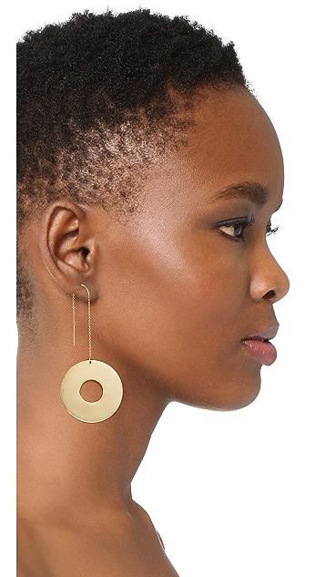 Modern Weaving Large Donut Dangler Single Earring