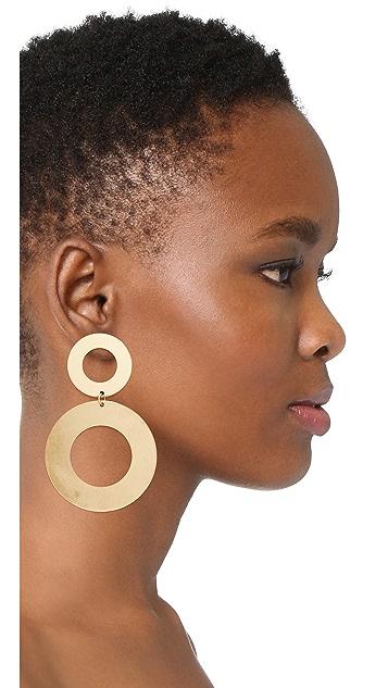 Modern Weaving Heavy Donut Stack Earrings