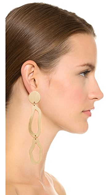 Modern Weaving Abstract Stacked Loop Earrings