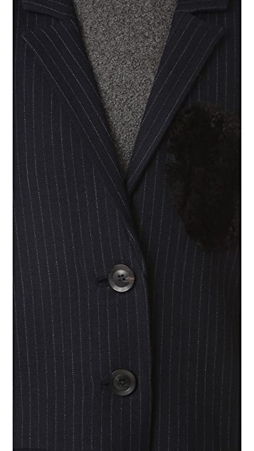 Marissa Webb Jacob Pinstripe Heart Overcoat