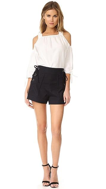 Marissa Webb Marie Lace Up Shorts