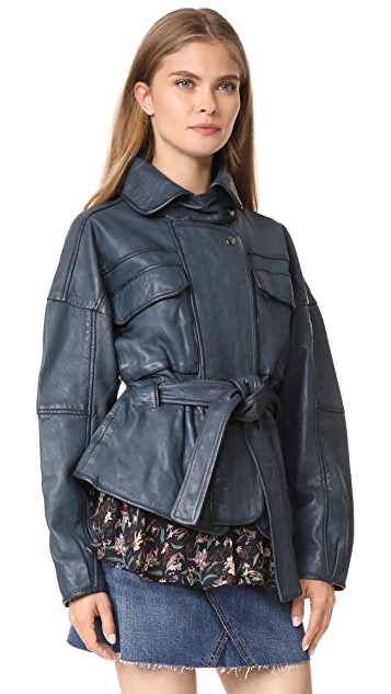 Marissa Webb Kayla Leather Anorak