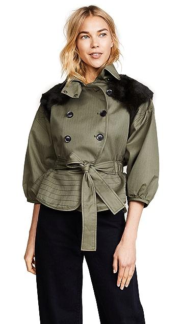 Marissa Webb Laurel Canvas & Fur Jacket