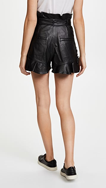 Marissa Webb Tina Leather Shorts
