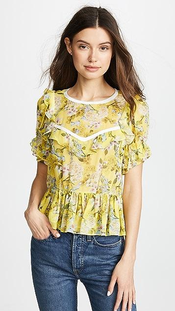 Marissa Webb Kinley Silk Print Blouse
