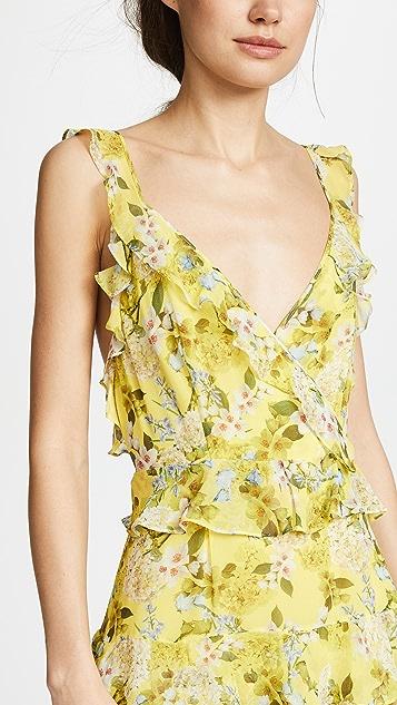 Marissa Webb Kaya Silk Print Dress