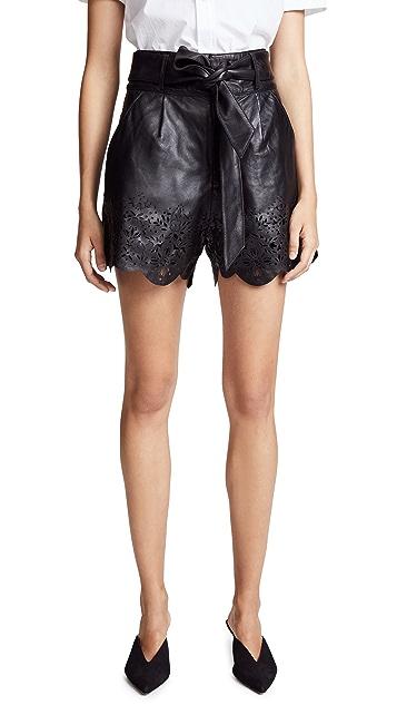 Marissa Webb Jane Leather Shorts