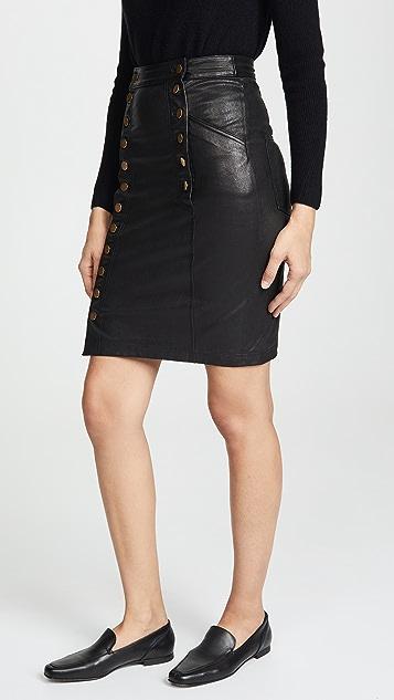 Marissa Webb Nell Stretch Leather Skirt