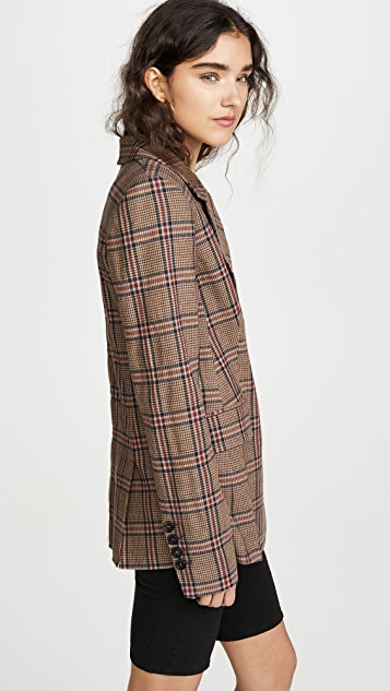 Marissa Webb Olson Plaid Blazer