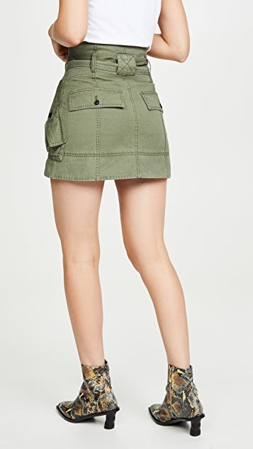 Marissa Webb Hannah Herringbone Canvas Skirt