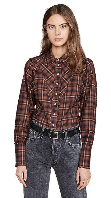 Marissa Webb Huxley Westorian Plaid Shirt