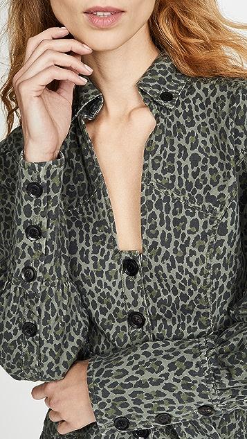 Marissa Webb Платье Mera из холщовой ткани с принтом