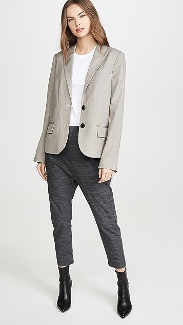 Marissa Webb Джинсы Arley прямого покроя Свободный Блейзер в мужском стиле