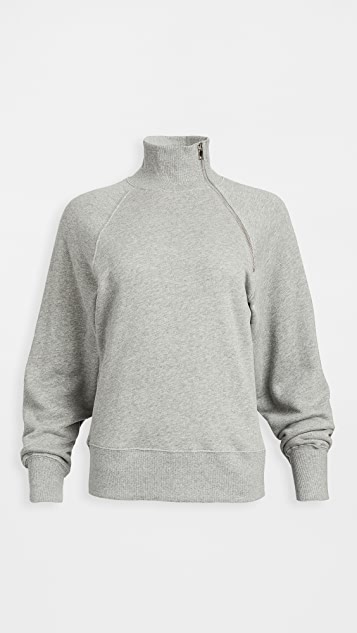 Marissa Webb So Uptight Funnel Neck Zip Sweatshirt