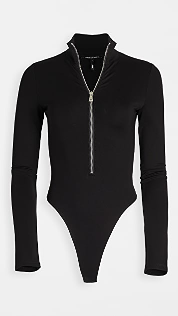 Marissa Webb Zip Front Thong Bodysuit