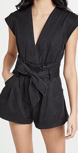Marissa Webb - Dixon 纸包复古水洗短款连身衣