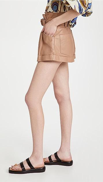 Marissa Webb Dixon 皮纸包短裤