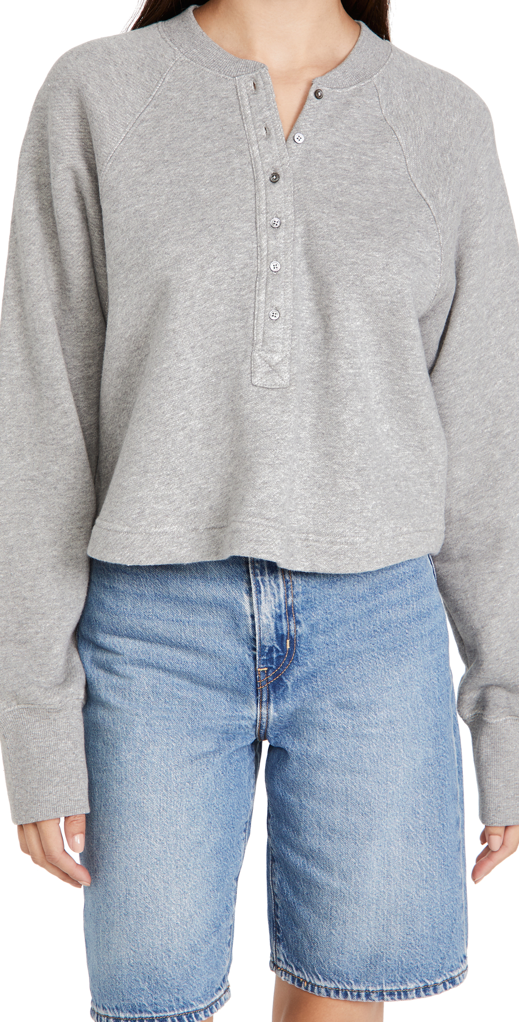 So Uptight Plunge Henley Sweatshirt