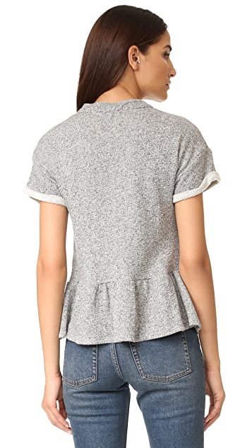 Maven West Laura Lace Up Peplum Top