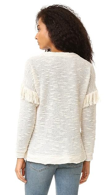 Maven West Alice Drop Shoulder Fringe Sweater