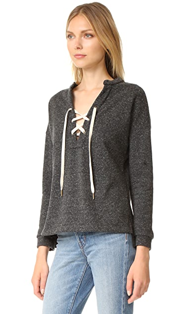 Maven West Tyler Lace Up Sweatshirt