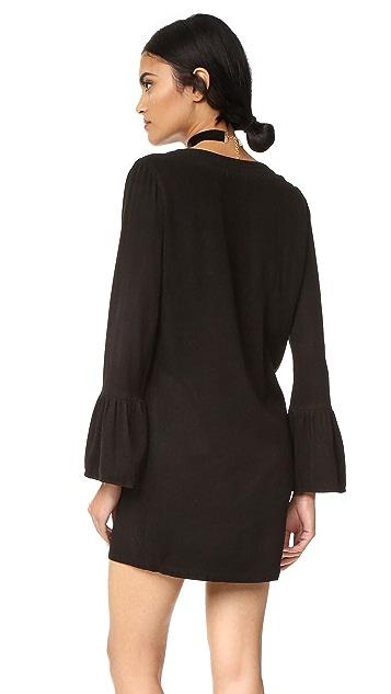 Maven West Katy Lace Up Ruffle Dress